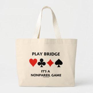 Puente del juego es juegos incomparables de una bolsa tela grande