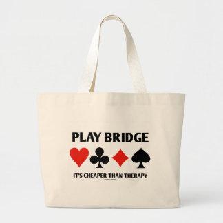 Puente del juego es más barato que la terapia (los bolsa tela grande