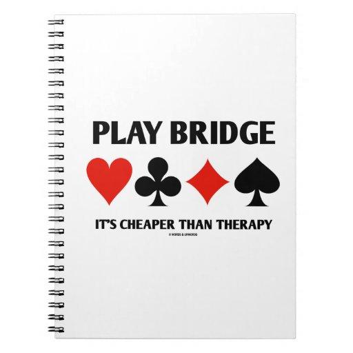 Puente del juego es más barato que la terapia (los libretas