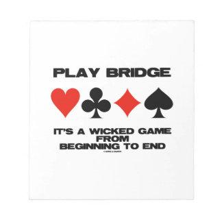 Puente del juego es un juego travieso del extremo blocs