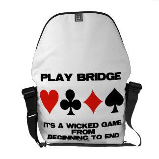 Puente del juego es un juego travieso del extremo bolsas de mensajeria