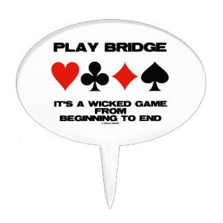 Puente del juego es un juego travieso del extremo figuras para tartas