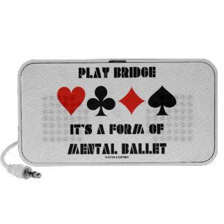 Puente del juego es una forma de ballet mental iPhone altavoces