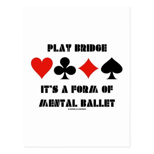 Puente del juego es una forma de ballet mental tarjeta postal