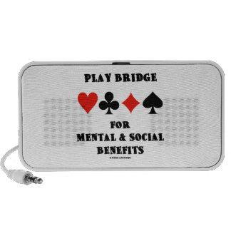 Puente del juego para mental y los beneficios soci mini altavoces