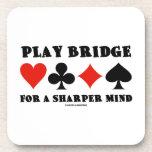 Puente del juego para una mente más aguda (cuatro  posavasos de bebida