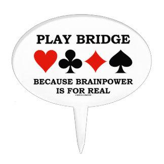 Puente del juego porque la capacidad intelectual figuras de tarta