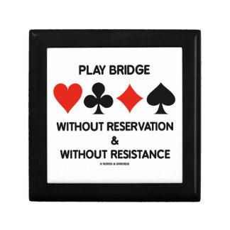 Puente del juego sin la reserva sin resistencia cajas de recuerdo