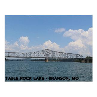 Puente del lago rock de la tabla tarjetas postales
