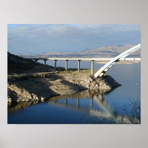 Puente del lago roosevelt, Arizona Póster
