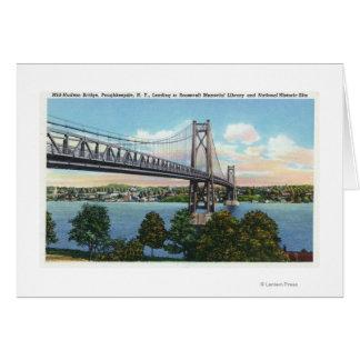 Puente del Mediados de-Hudson a histórico nacional Tarjeta De Felicitación