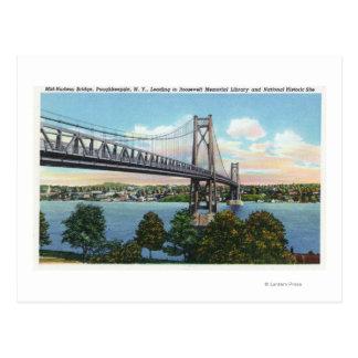 Puente del Mediados de-Hudson a histórico nacional Postales