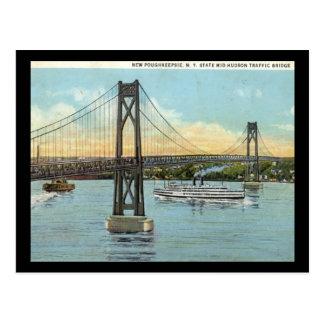 Puente del Mediados de-Hudson, vintage 1930 de Pou Postales