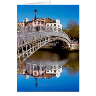 Puente del medio penique de Dublín Tarjeta De Felicitación