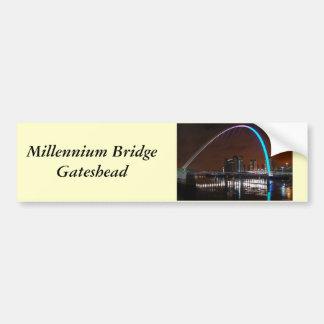 Puente del milenio, Gateshead Etiqueta De Parachoque
