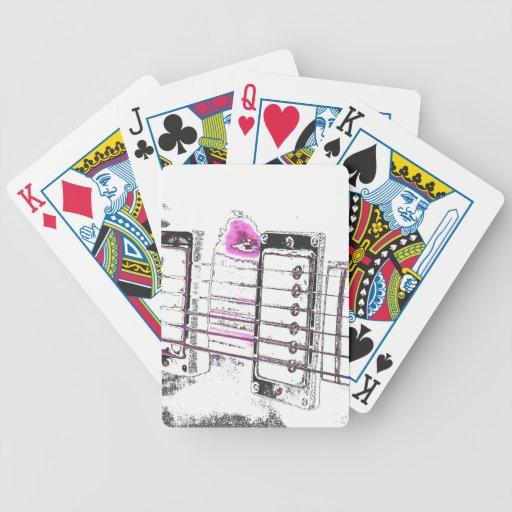 puente del negro del rosa de la imagen del esquema cartas de juego