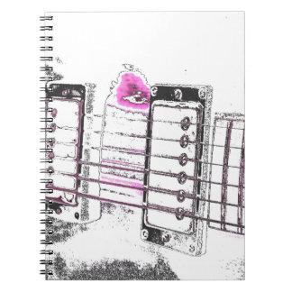 puente del negro del rosa de la imagen del esquema libros de apuntes