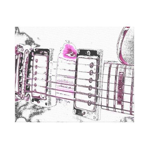 puente del negro del rosa de la imagen del esquema impresión en lienzo estirada