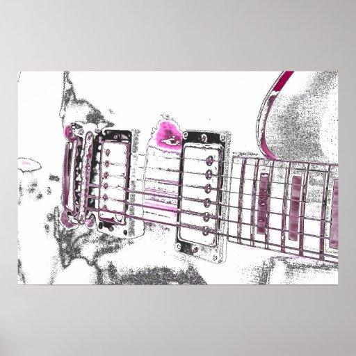 puente del negro del rosa de la imagen del esquema póster