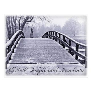 Puente del norte viejo postal