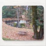 Puente del otoño tapetes de raton