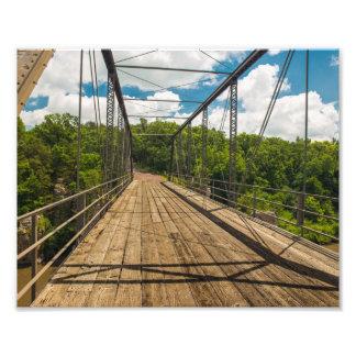 Puente del parque de estado de las palizadas fotografías