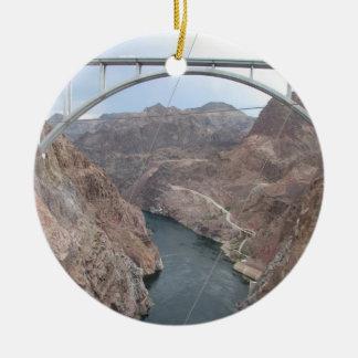Puente del Preso Hoover Adorno Navideño Redondo De Cerámica