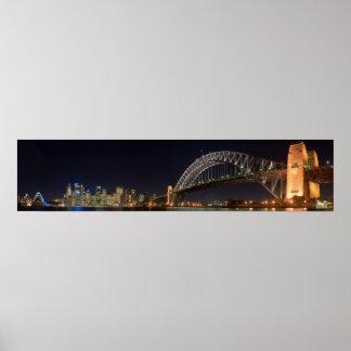 Puente del puerto de Sydney Australia en el panora Póster