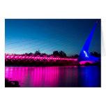 Puente del reloj de sol de Think Pink Felicitacion