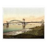 Puente del Rin, Bonn, el Rin, Alemania Photoc raro Postales