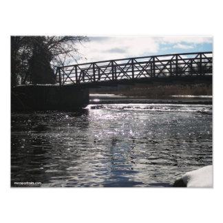 Puente del río de Huron Impresiones Fotograficas