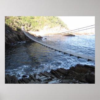 Puente del río de la tormenta póster