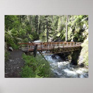 Puente del río de Wallowa Póster