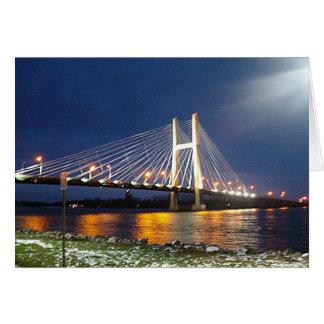 Puente del río Misisipi Felicitación