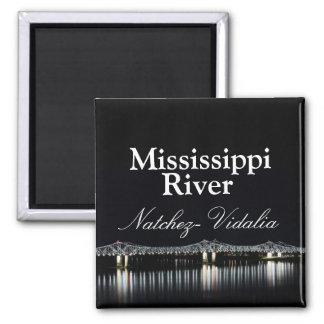 Puente del río Misisipi - imán de Natchez Vidalia