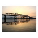 Puente del río Misisipi Postal