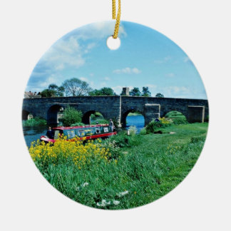 Puente del siglo XV sobre el río de Avon, Warwicks Ornaments Para Arbol De Navidad