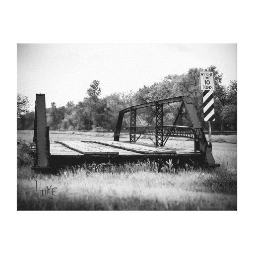 Puente del silencio lienzo envuelto para galerías