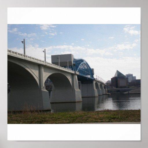 Puente del St del mercado, Chattanooga Tn Poster