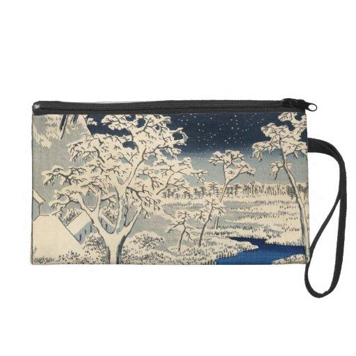 Puente del tambor en Meguro, por Ando Hiroshige