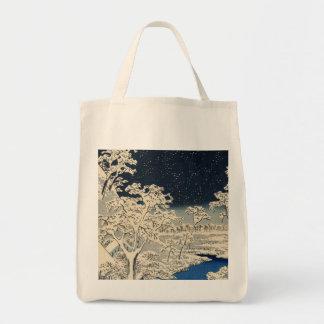 Puente del tambor en Meguro, por Ando Hiroshige Bolsa Tela Para La Compra