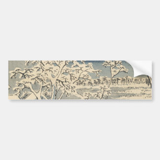 Puente del tambor en Meguro, por Ando Hiroshige Pegatina Para Auto