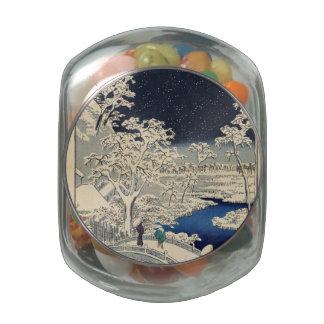 Puente del tambor en Meguro y la colina de la Jarras De Cristal Jelly Bely