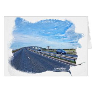 Puente distante tarjeta de felicitación