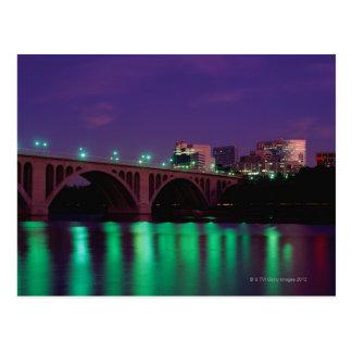 Puente dominante que cruza el río Potomac Tarjeta Postal