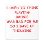 puente duplicado bloc de papel
