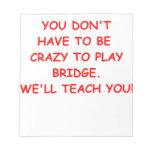 puente duplicado blocs de papel