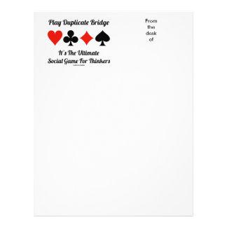 Puente duplicado del juego es último juego social plantilla de membrete