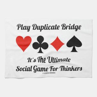Puente duplicado del juego es último juego social toallas de mano