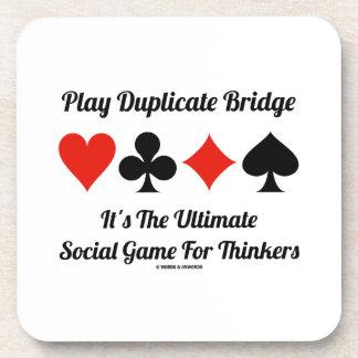 Puente duplicado del juego es último juego social posavasos de bebidas